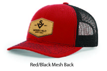 Richardson 112 Mesh Back Leather Patch Cap Options-10