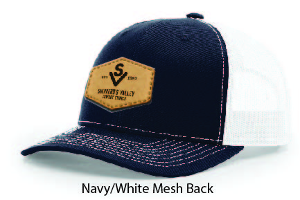 Richardson 112 Mesh Back Leather Patch Cap Options-16