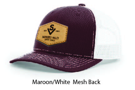 Richardson 112 Mesh Back Leather Patch Cap Options-17