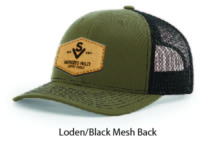 Richardson 112 Mesh Back Leather Patch Cap Options-19