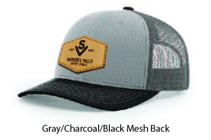 Richardson 112 Mesh Back Leather Patch Cap Options-22