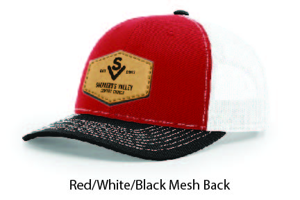Richardson 112 Mesh Back Leather Patch Cap Options-23